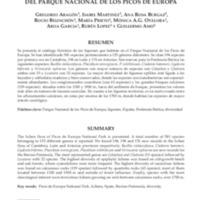 Inventariación de la diversidad liquénica del Parque Nacional de los Picos de Europa