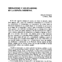 Mesianismo y milenarismo en la España medieval