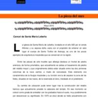 Cancel de Santa María Lebeña