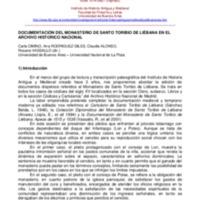 Documentación del Monasterio de Santo Toribio de Liébana en el Archivo Histórico Nacional
