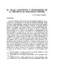 El Atlas Lingüístico y Etnográfico de la provincia de Santander (España)