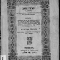 Contestación al oficio de la Sociedad Económica de Amigos del País de Liébana (1843)