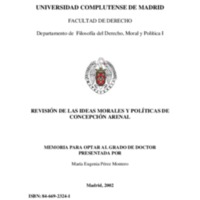 Revisión de las ideas morales y políticas de Concepción Arenal